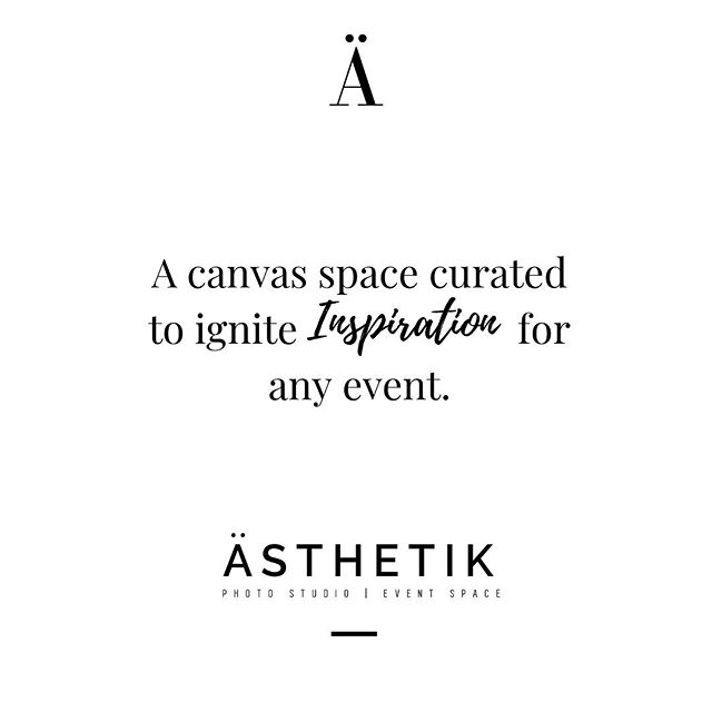 We look forward to hosting & see your next event/design come to life in our space! 🖤