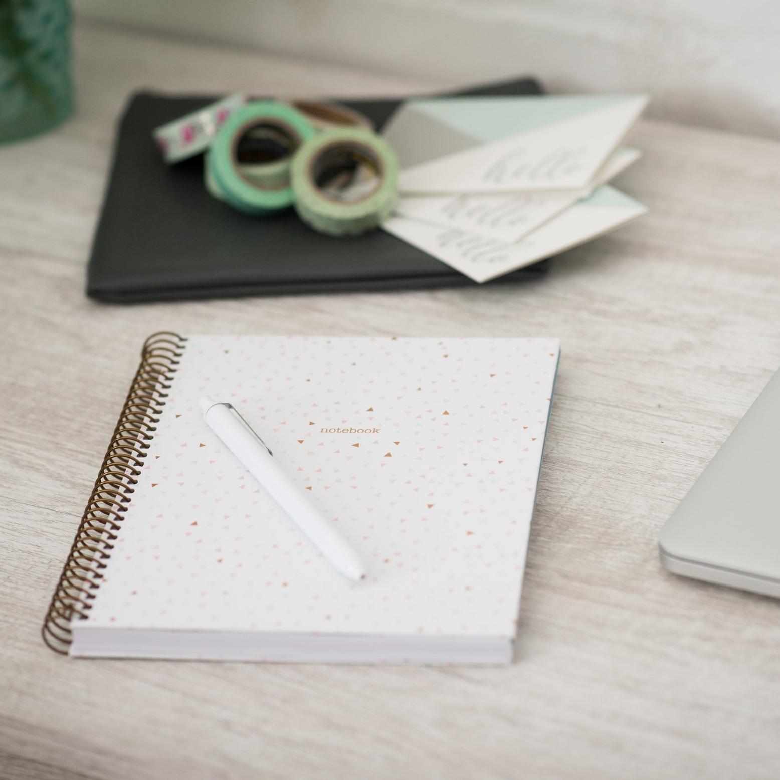 Desk Shots - Mint + Navy