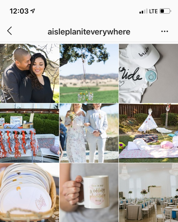 Love how  @aisleplaniteverywhere  interspersed Pops of Pretty Images with her events. It helps to visually diversify her feed and makes the posts that are educational/tip-based more obvious.