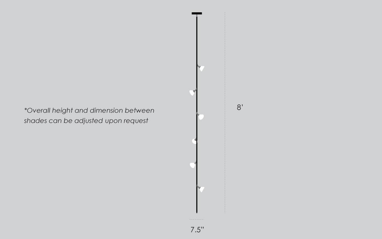 Flora Vertical Chandelier Dimensions