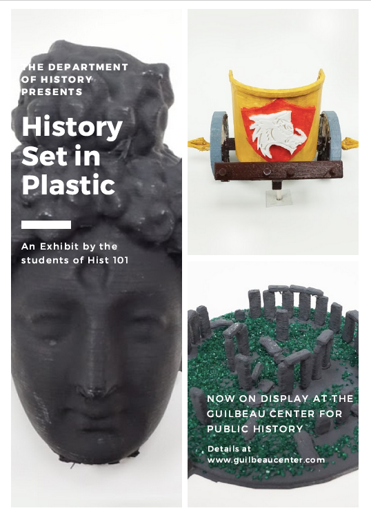 History Set in Plastic: A 3D Walk through the Ancient World - For their final project, students in History 101: A History of World Societies, students 3-D printed historical artifacts from the history of science, technology, engineering, or medicine from the early history of humankind up to 1453 CE.