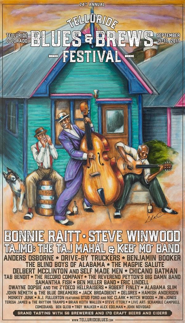 Telluride Blues & Brews Festival | 2017 Poster