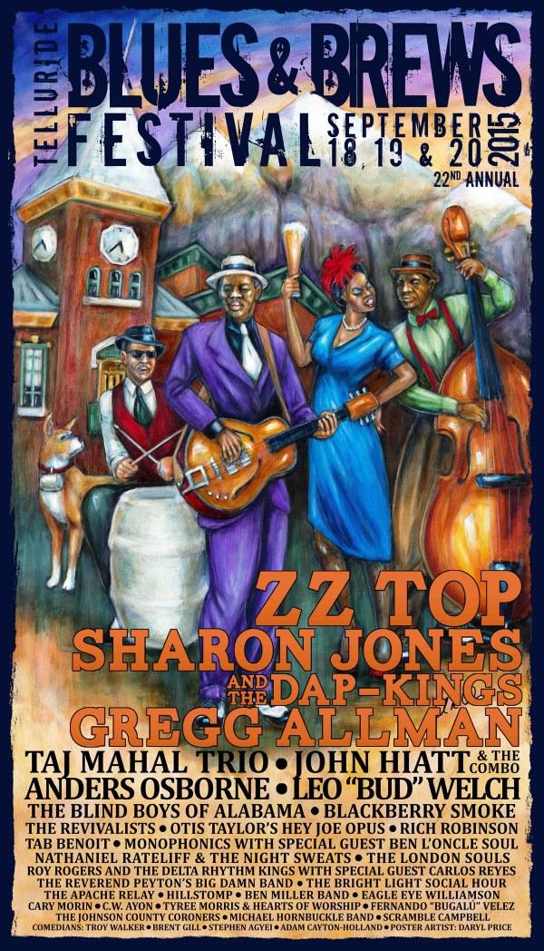 Telluride Blues & Brews Festival | 2015 Poster