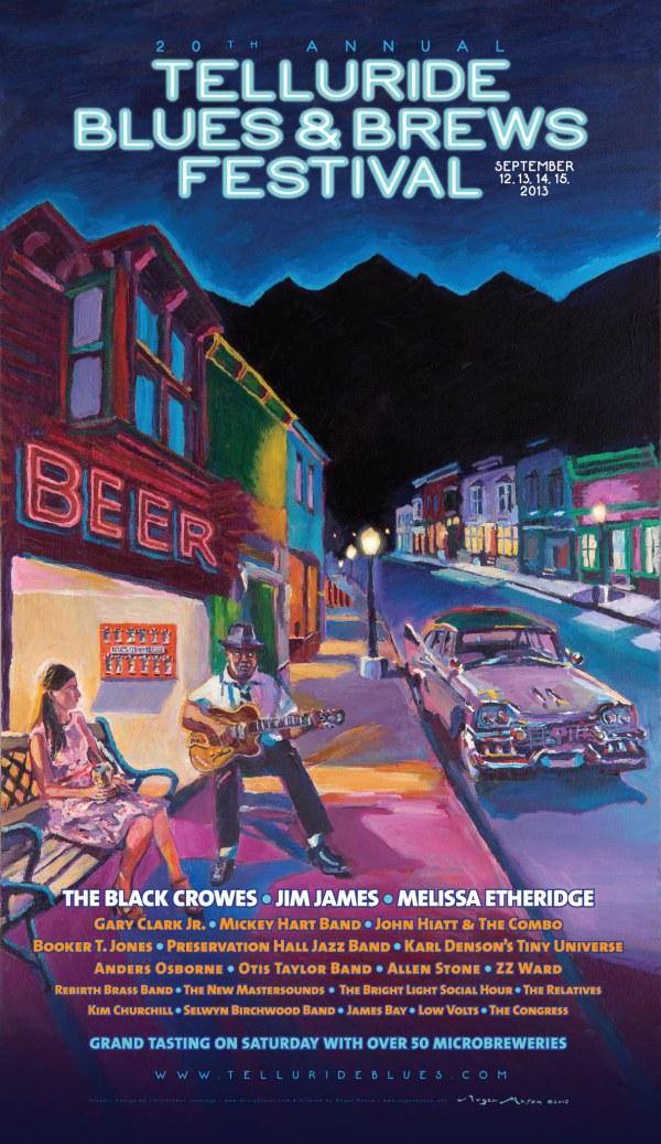 Telluride Blues & Brews Festival | 2013 Poster