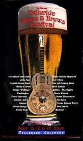 Telluride Blues & Brews Festival | 2000 Poster
