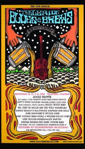 Telluride Blues & Brews Festival | 2001 Poster