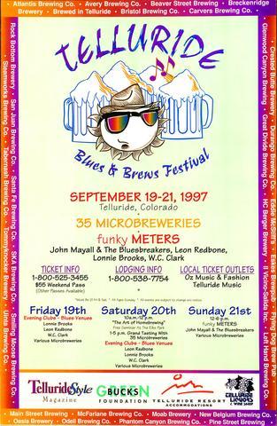 Telluride Blues & Brews Festival | 1997 Poster