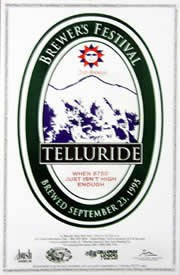 Telluride Blues & Brews Festival | 1995 Poster