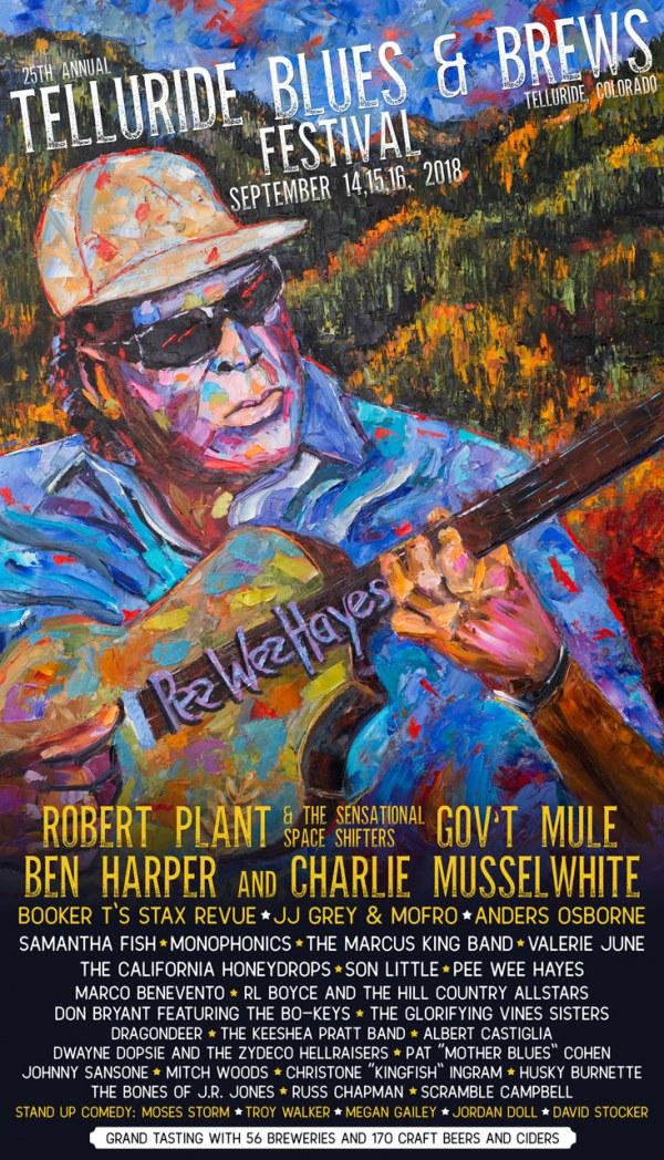 Telluride Blues & Brews Festival | 2018 Poster