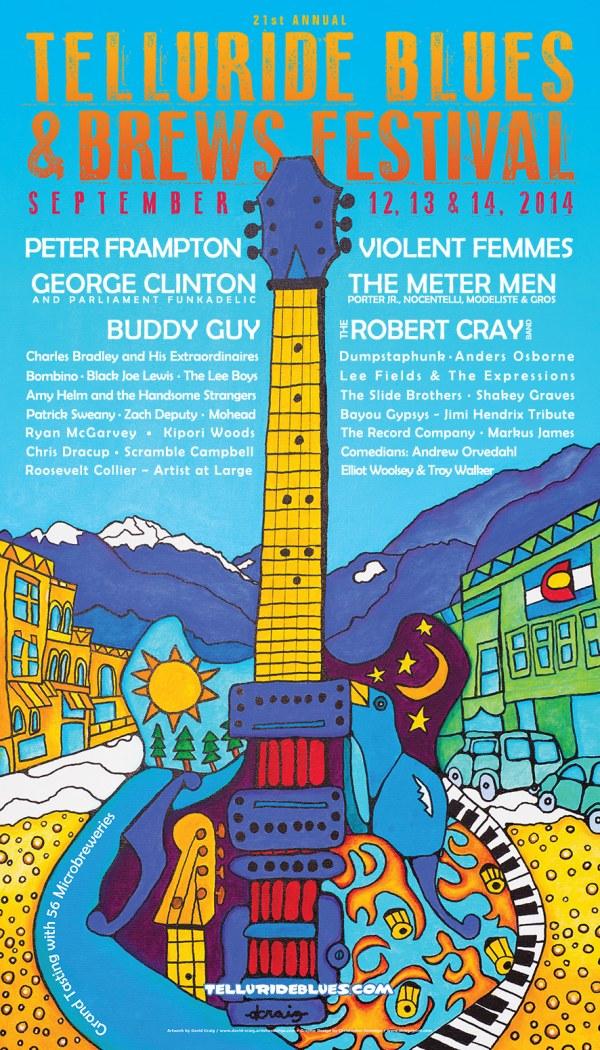 Telluride Blues & Brews Festival   2014 Poster