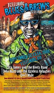 Telluride Blues & Brews Festival   2008 Poster