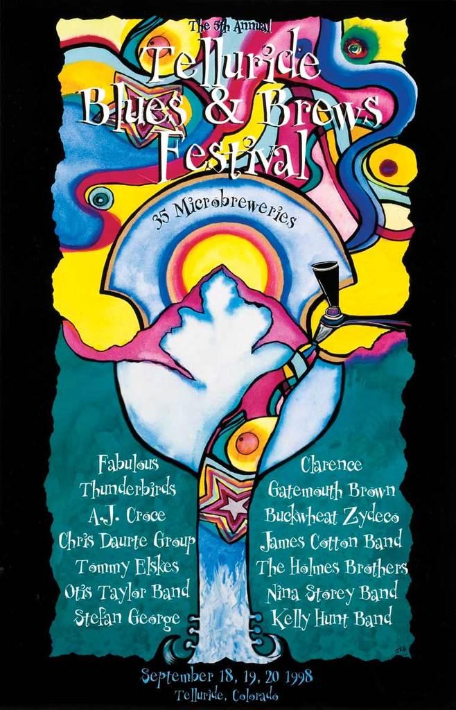 Telluride Blues & Brews Festival   1998 Poster