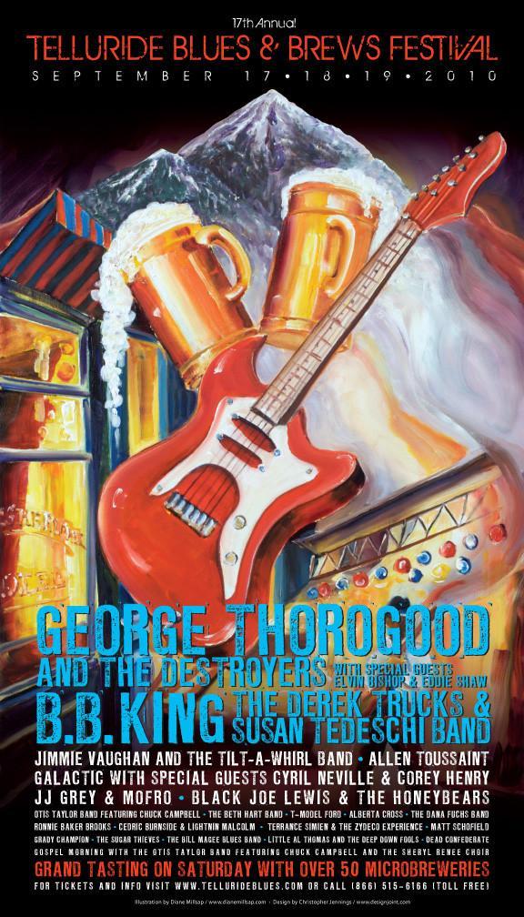 Telluride Blues & Brews Festival | 2010 Poster