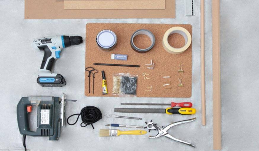 outils matériaux pegboard