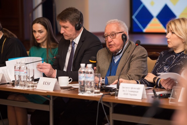 UCSJ President chairing the Round-Table in Kyiv, Ukraine.  April 16, 2019