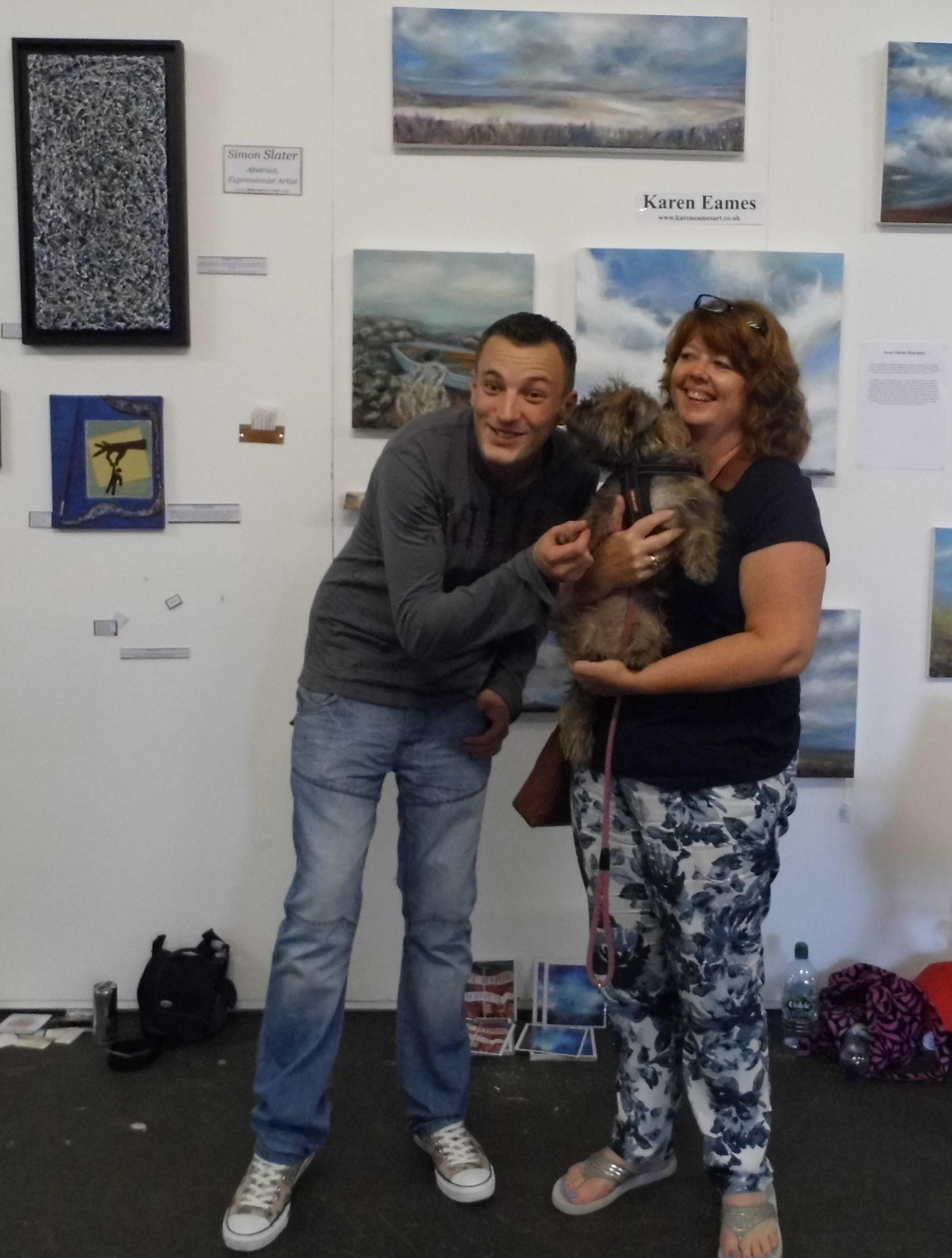 Simon Slater Artist love dogs.JPG