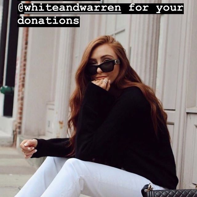 Thank you to #whiteandwarren for their gorgeous donation of travel scarves to the woman+1 fundraiser for #seasonofthewitchesmovie. Contact me for more info on donating.