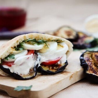 #Israel offers delicious, healthy, natural food. Sabich pictured here. To die for. #alignboulder #coworking #community #startuplife #entrepreneur #makers #boulder