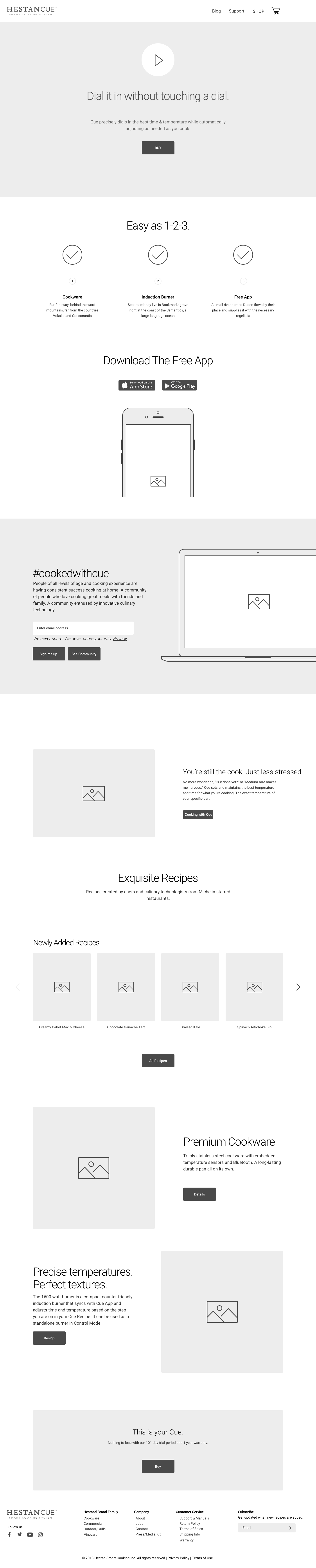 Home Page Wireframe (Select to see full-screen)