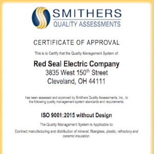 Red Seal ISO Certificate