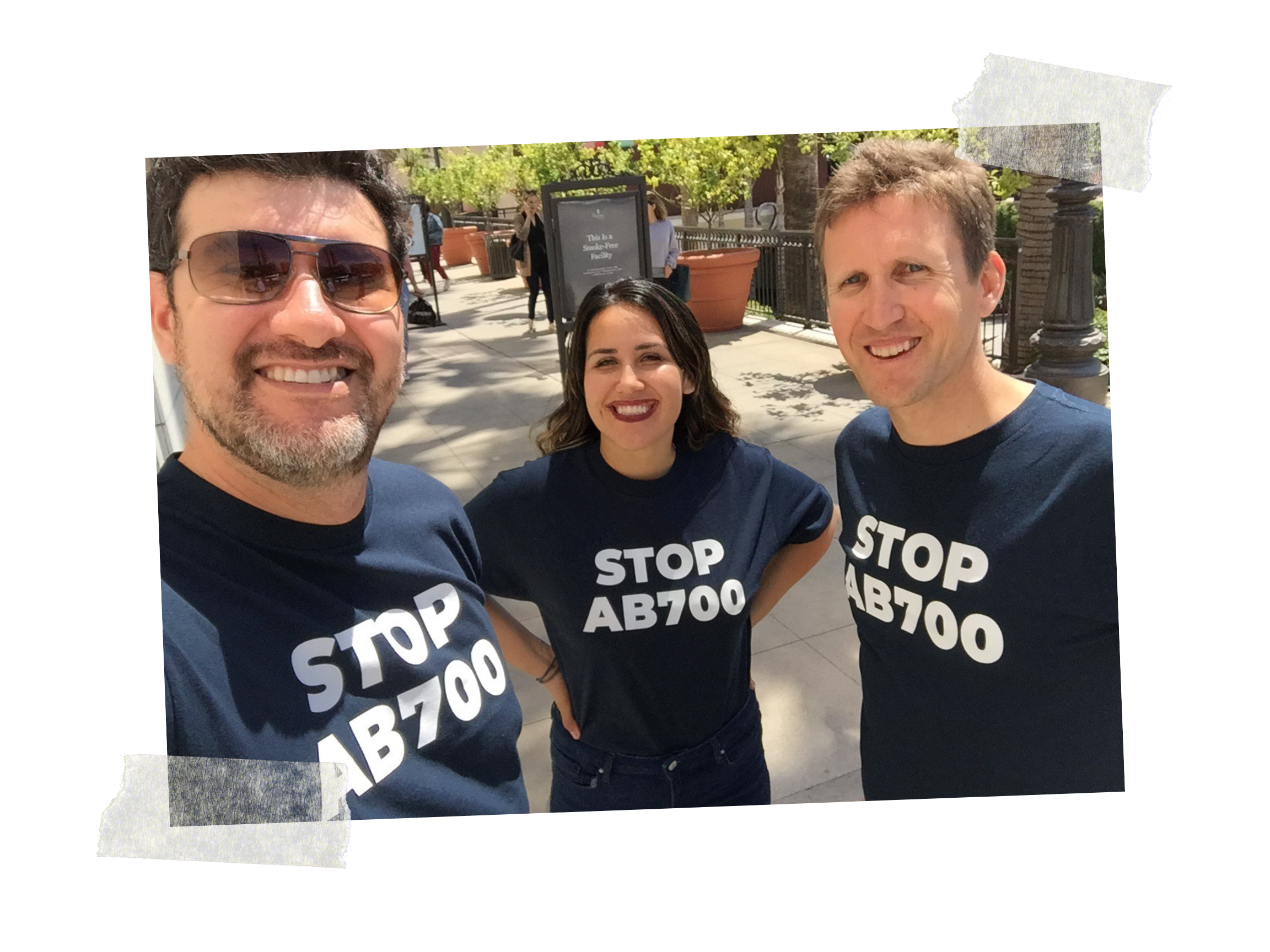 NEAVS supporters in Los Angeles helping to spread the word about AB700