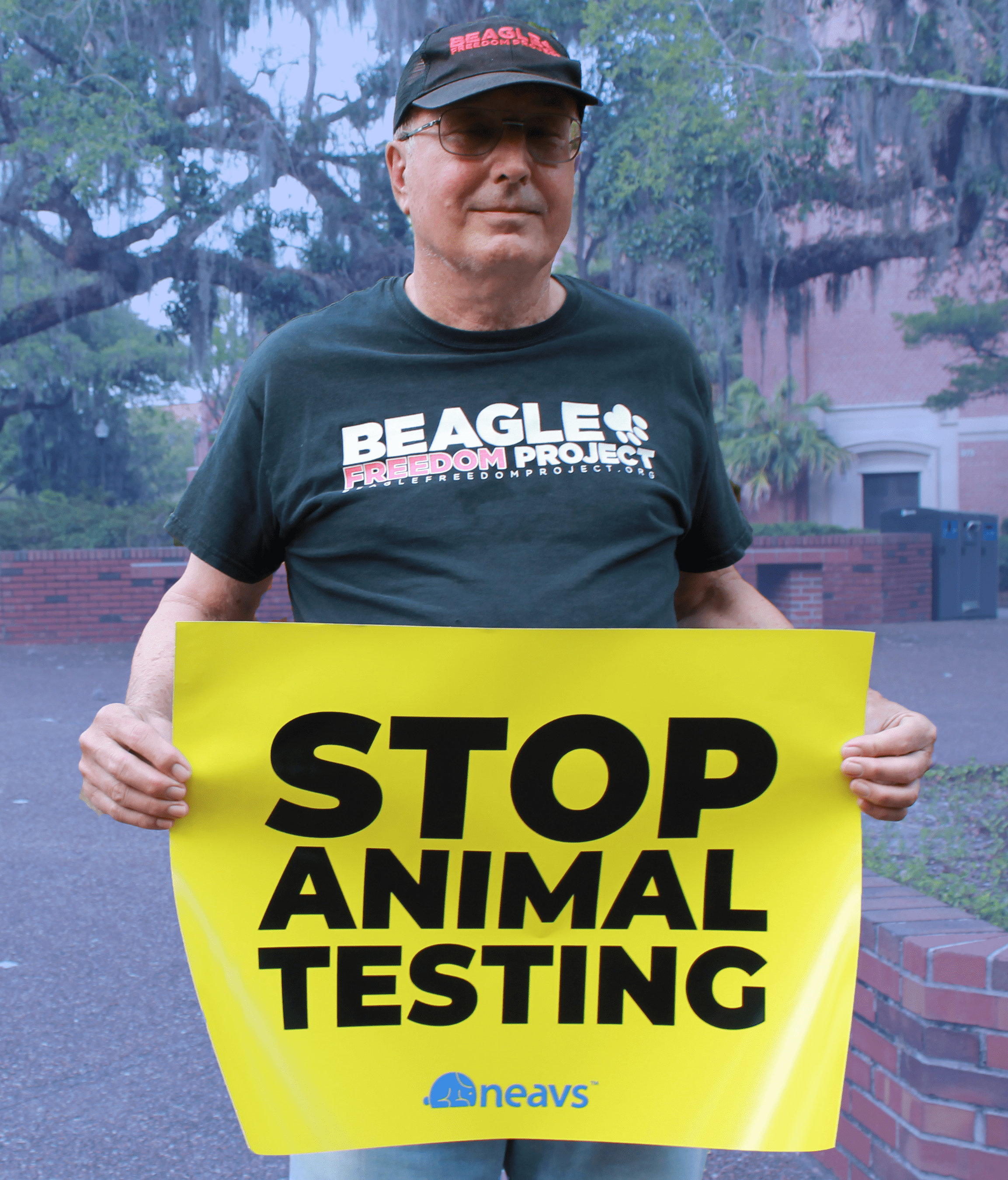 Bob began campaigning against animal cruelty about eight years ago.