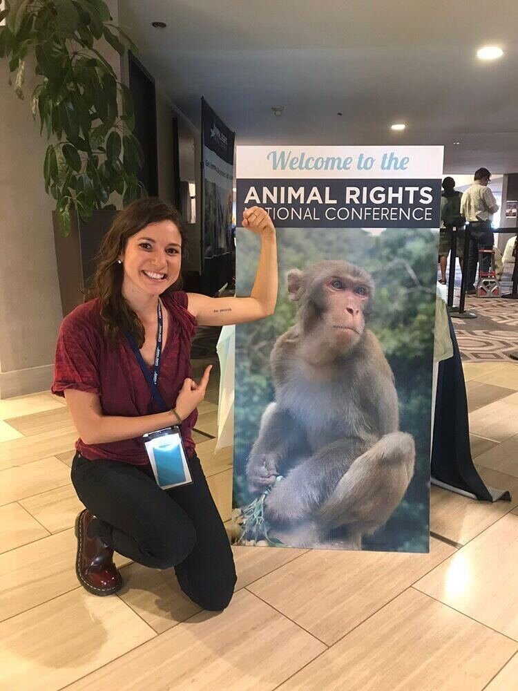 At the Animal Rights Conference