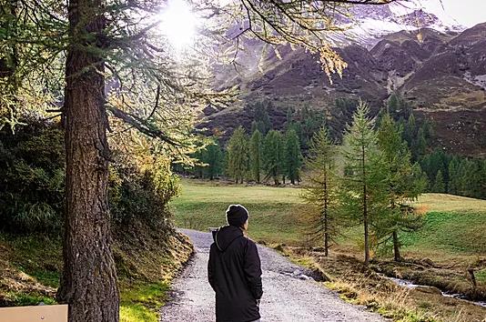Fresh air in the Swiss Alps