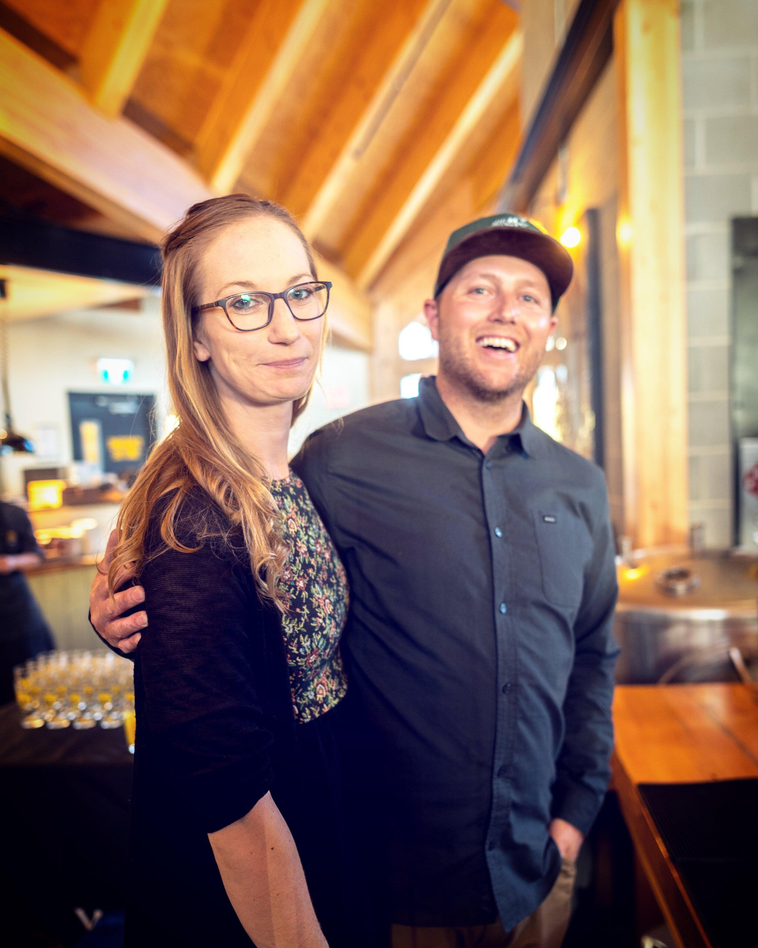 The cute couple. Ms. Cheryl and Mr. Mark (our head distiller).