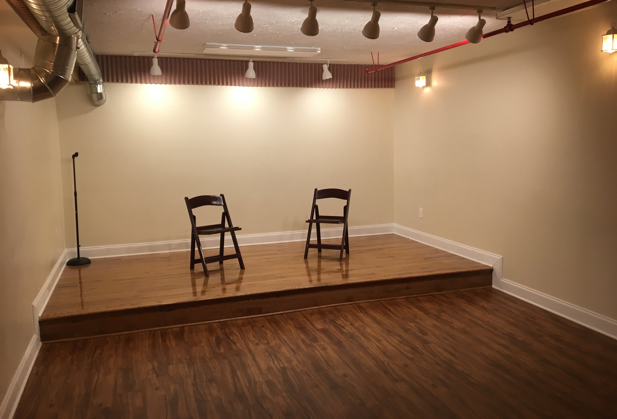 Classrooms are great for improv teams to practice, small office parties, dancers and many more!