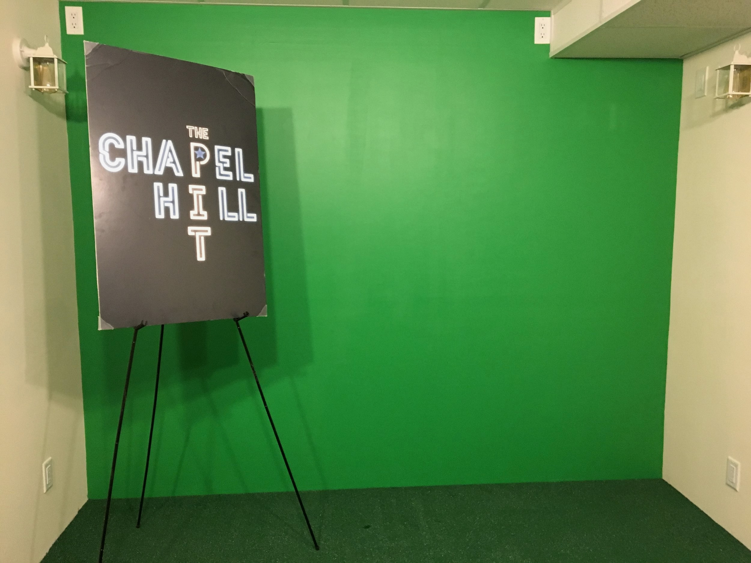 Our green room is the perfect place for you to record both video and podcasts!