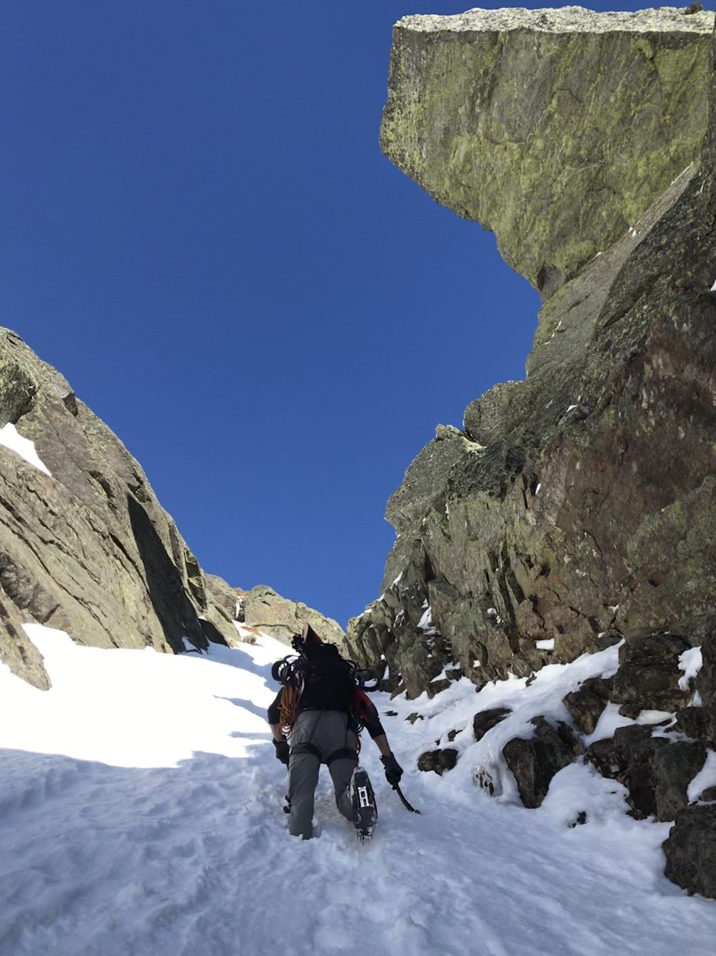 Climbing North Gully Huntington Ravine