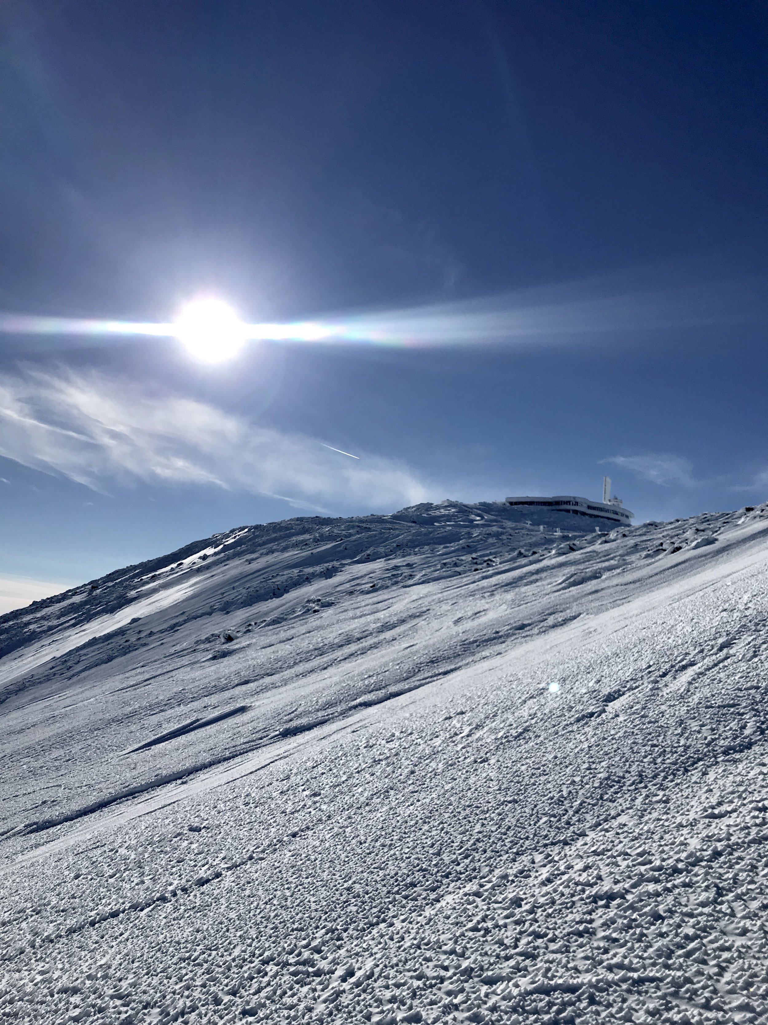 Eastern Snowfields and Summit of Mount Washington