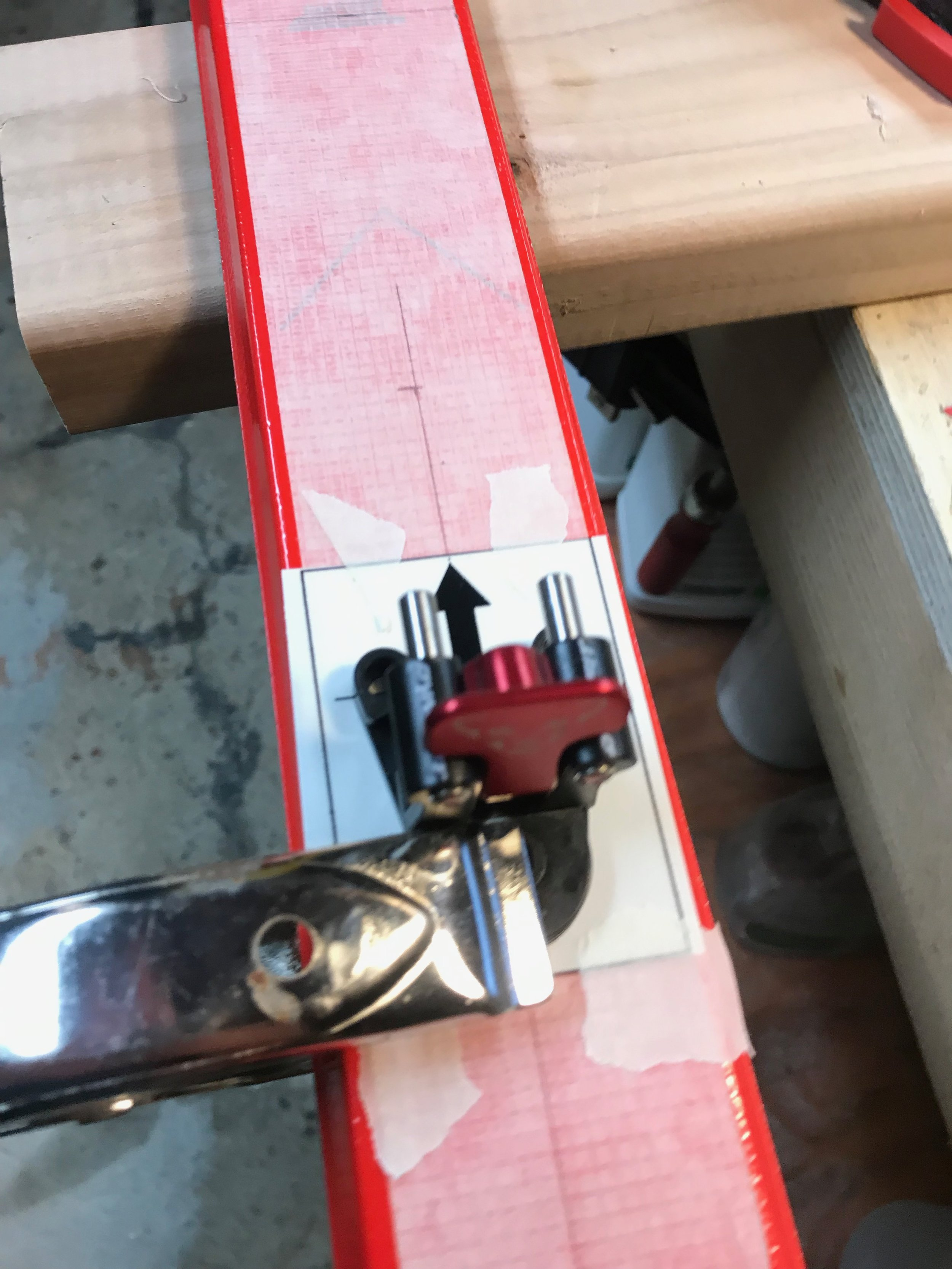 Clamping the Heel Piece