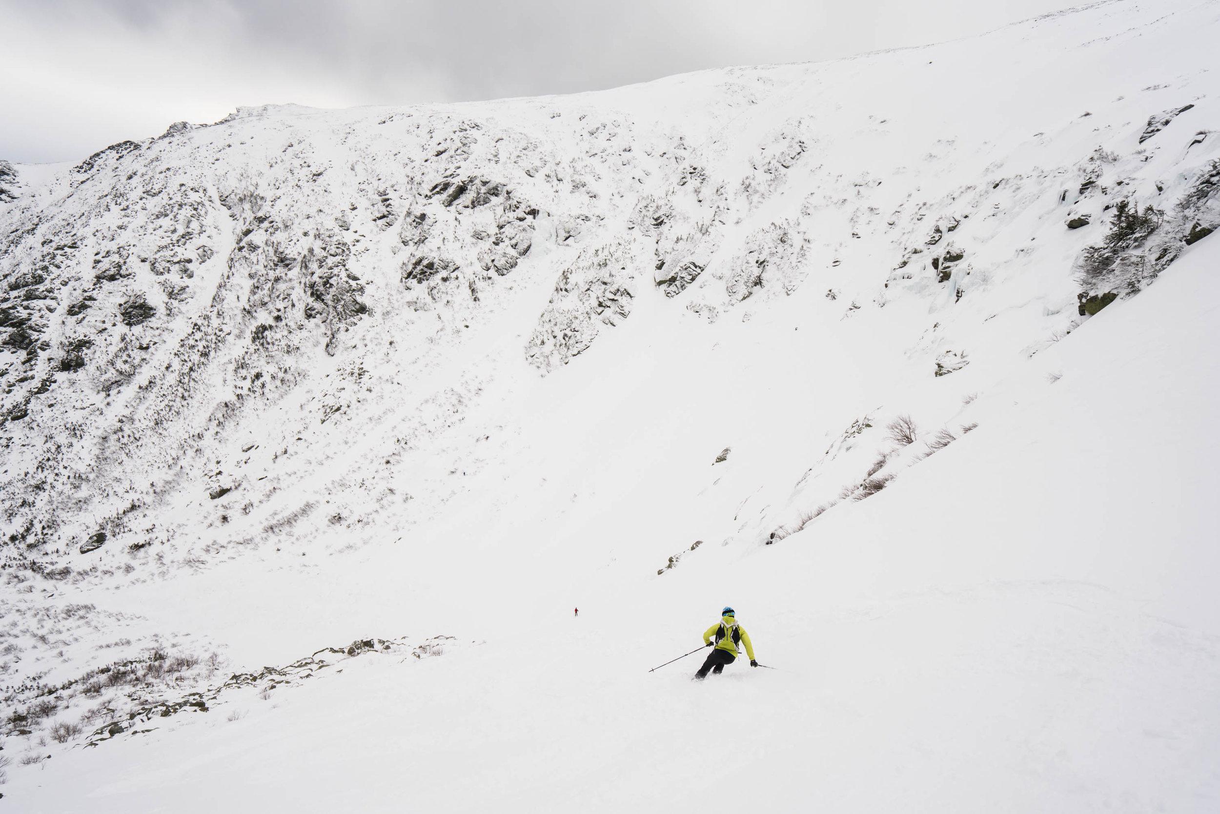 Alex skiing just next to Right Gully, Tuckerman Ravine