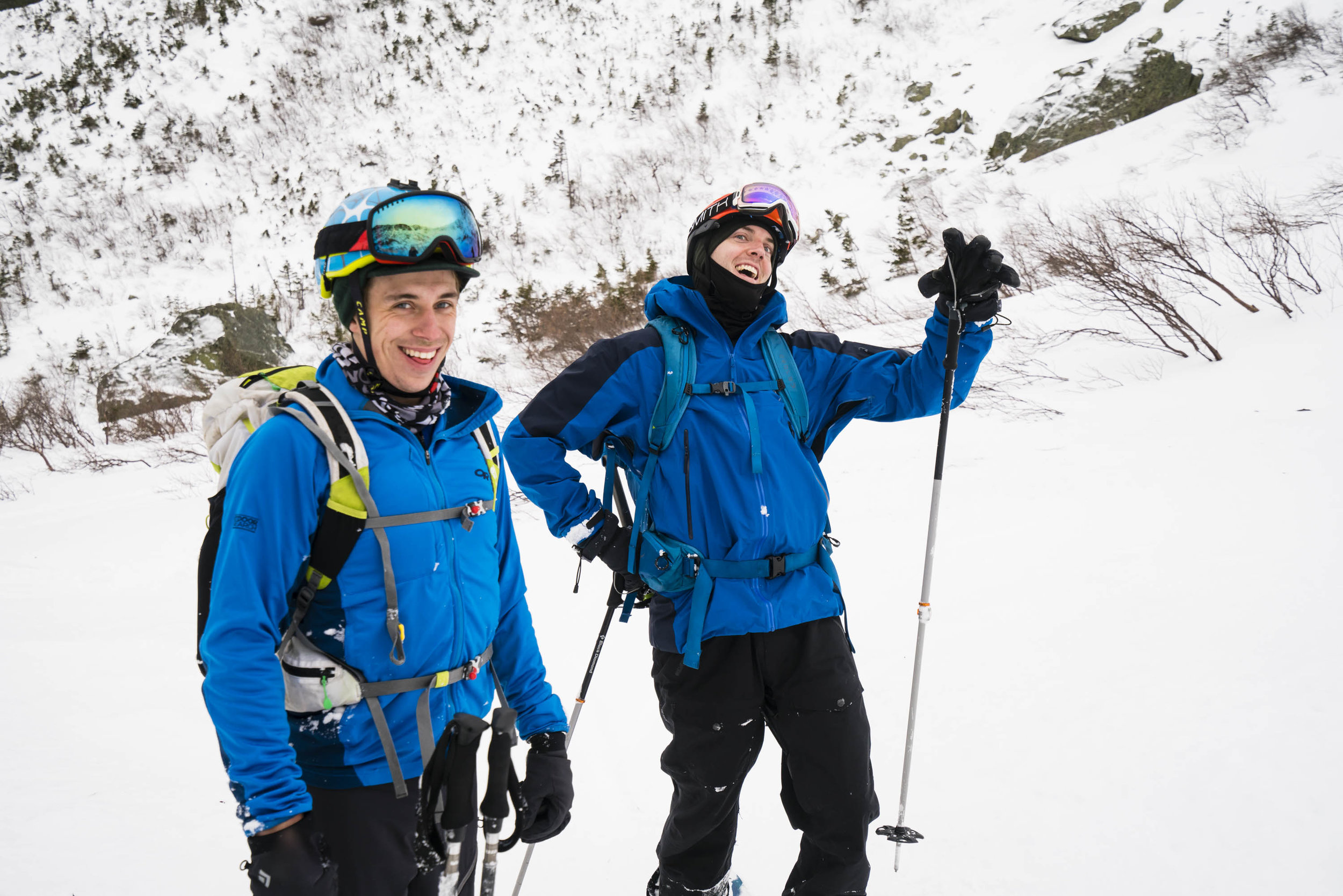 Andy and Alex in Tuckerman Ravine