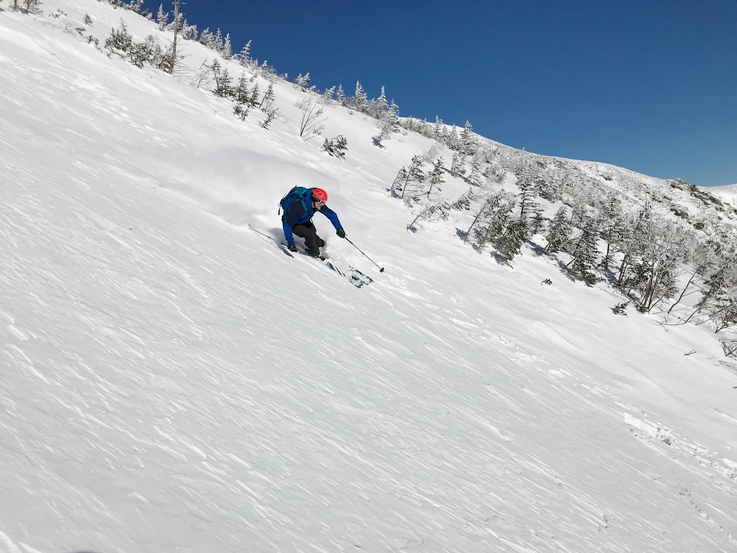 Andy ripping down Central Gully