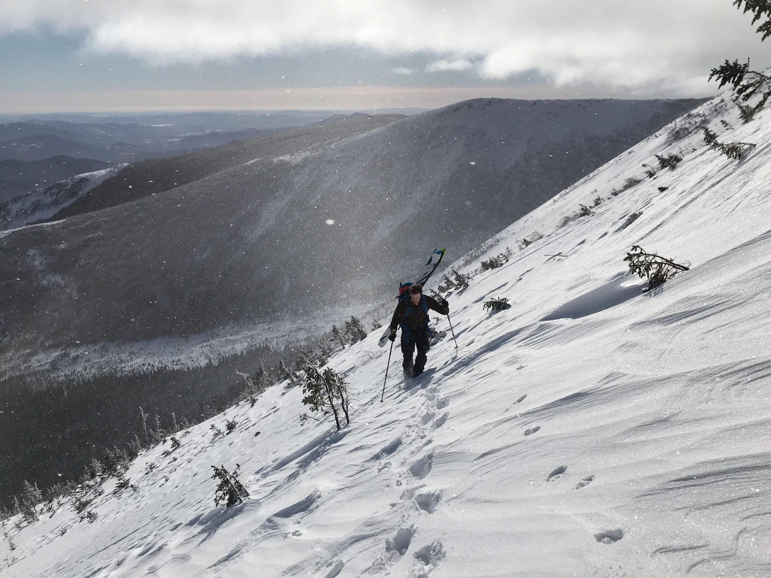The traverse from Central Gully