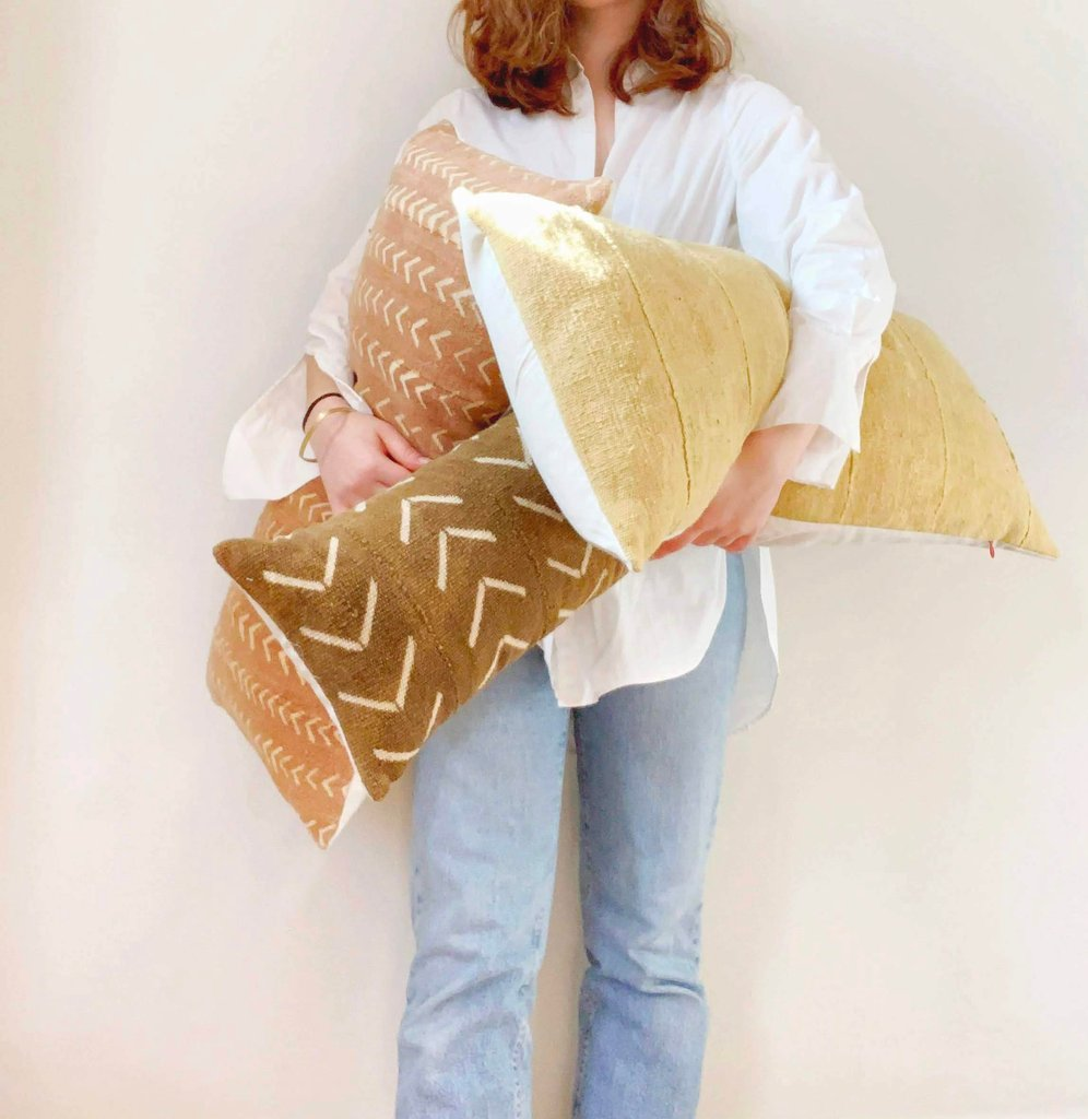 "One-of-a-kind pillows from PILLOWPIA's ""FOUND"" Collection."