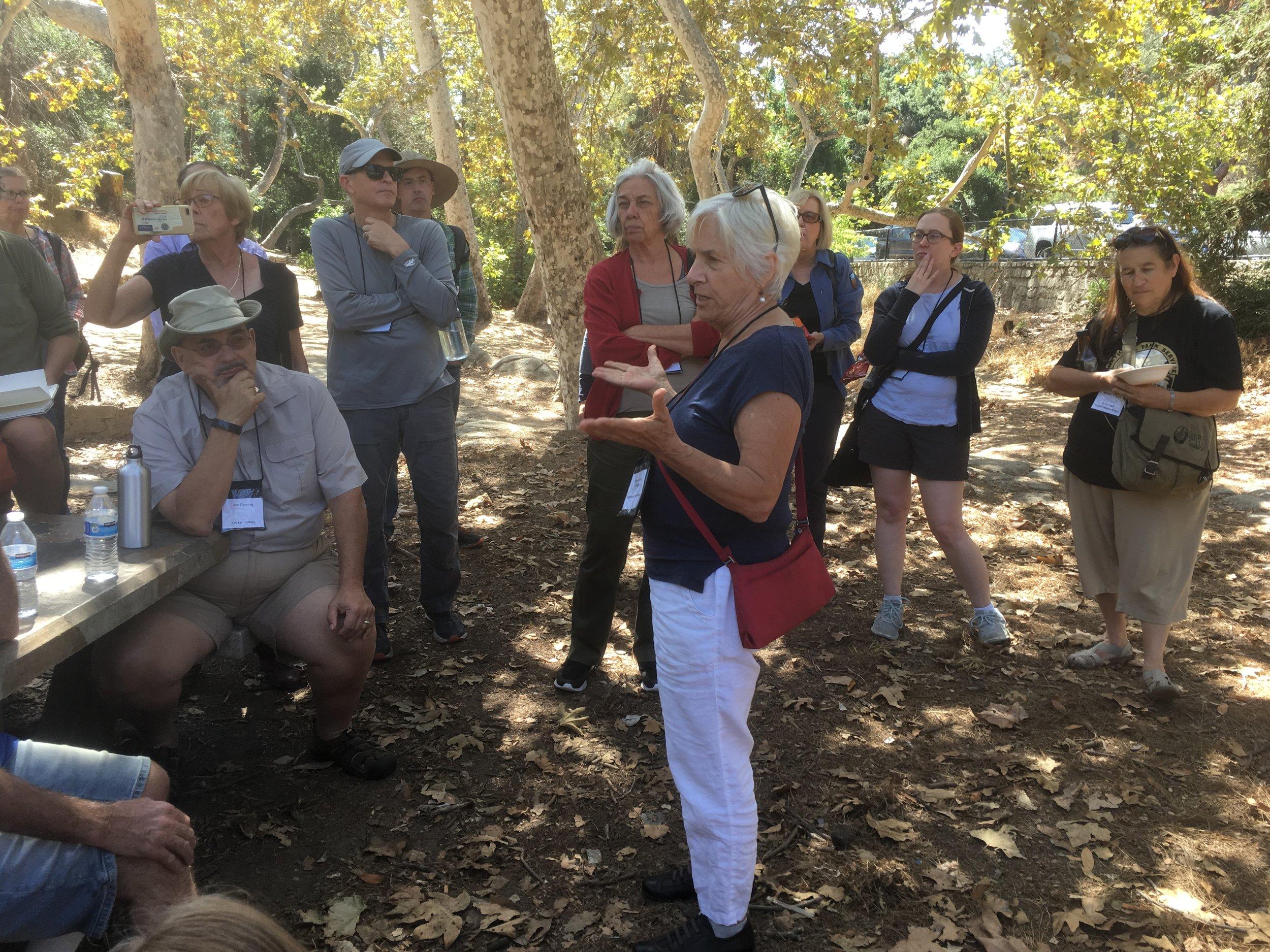 Betsy Damon gives a tour of LA's Ballona Creek
