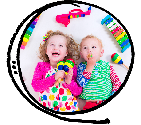 Music class with art activity for toddlers and preschoolers from 2 years old to 4 years old in East York, Toronto