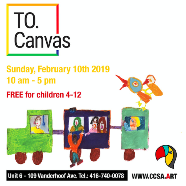 TO. Canvas Competition Free Painting Competition for children kids youth teen preteen in East York, Toronto by Canadian Contemporary School of Art (CCSA) and Canadian Children's Art Foundation (CCAF)