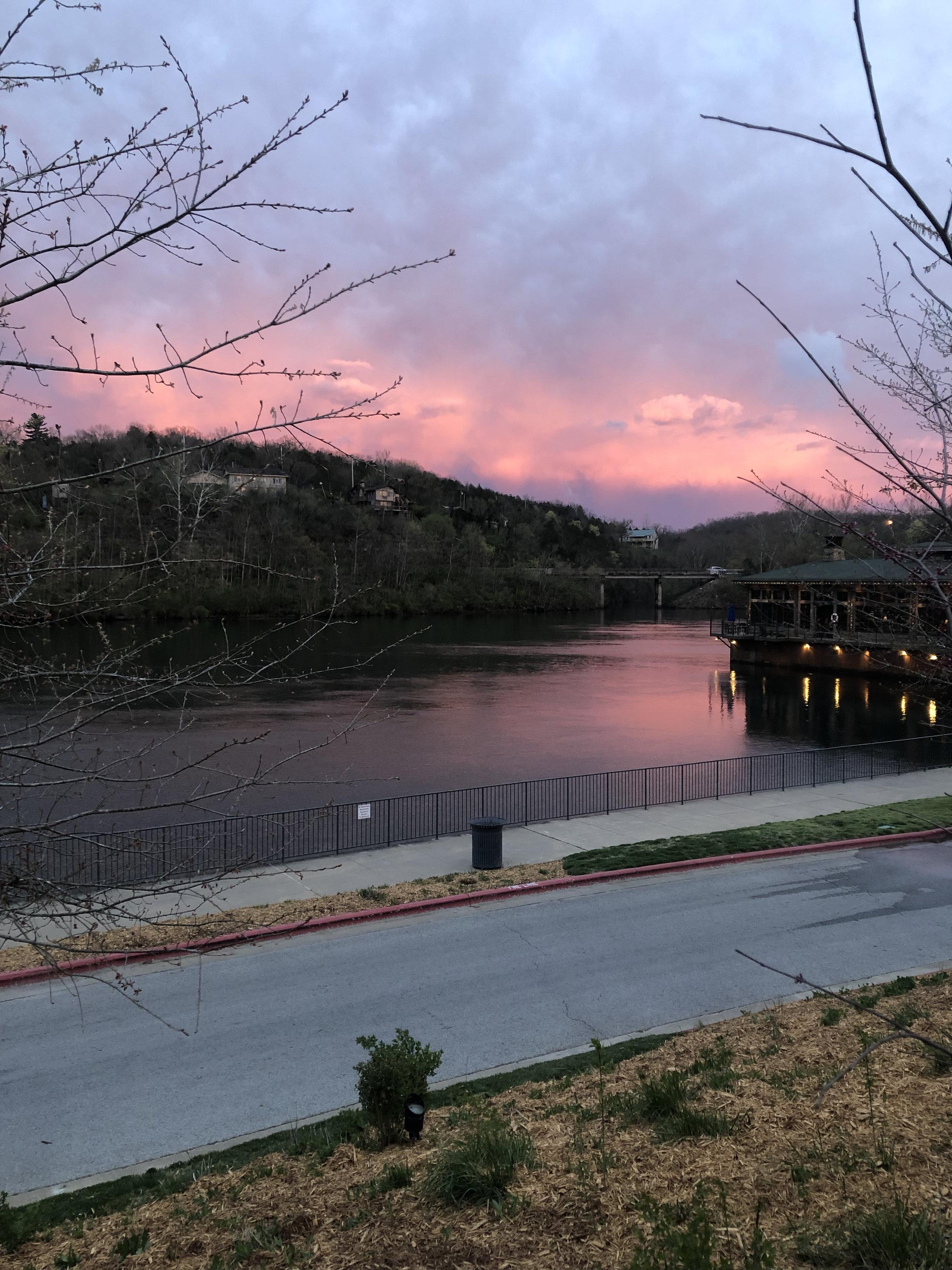 Beautiful Branson sunset