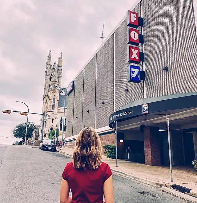 OVERWHELMED.  Just now responding to all the texts and comments from yesterday after an emotional day saying goodbye to my Fox 7 family THEN having to finish moving out of our house 😭🤪. I can't thank everyone enough for making the day so special and unforgettable.  Still processing that I won't be walking in this building each day.  More pics from my last day to come.