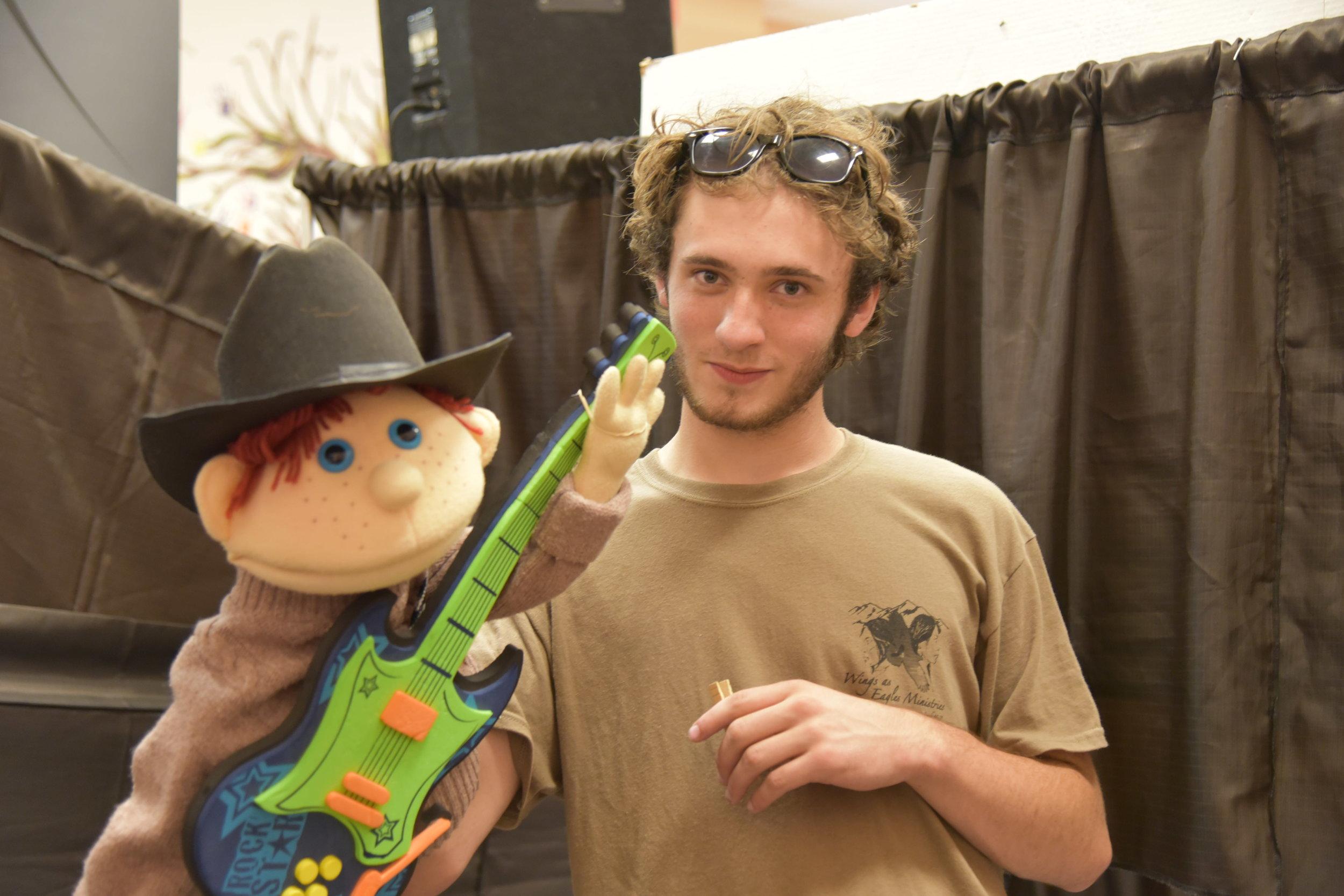 keegan and puppet.JPG