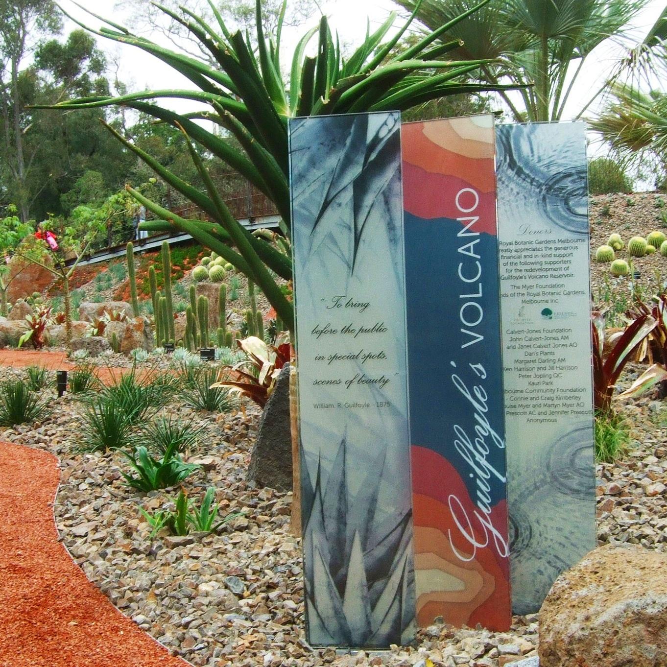 Guilfoyle's Volcano Signage, Royal Botanic Gardens Victoria