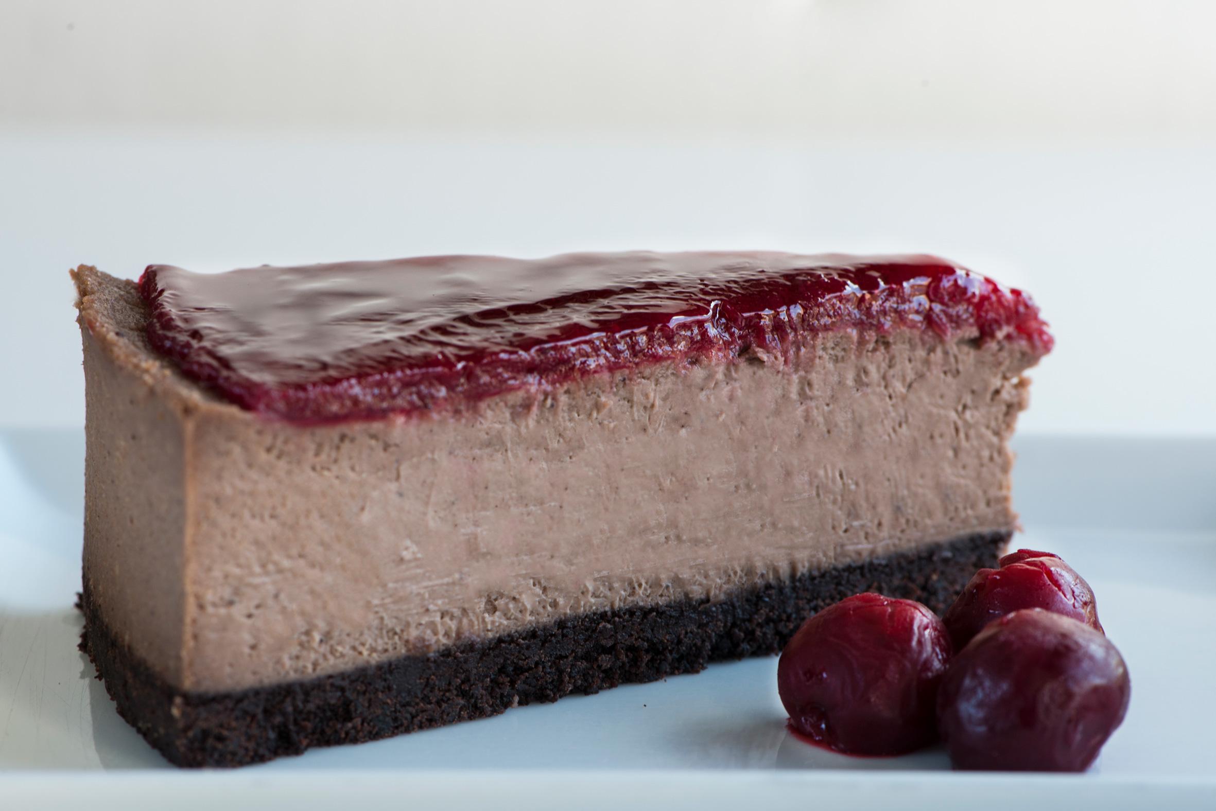 Cherry Coffee Cheesecake