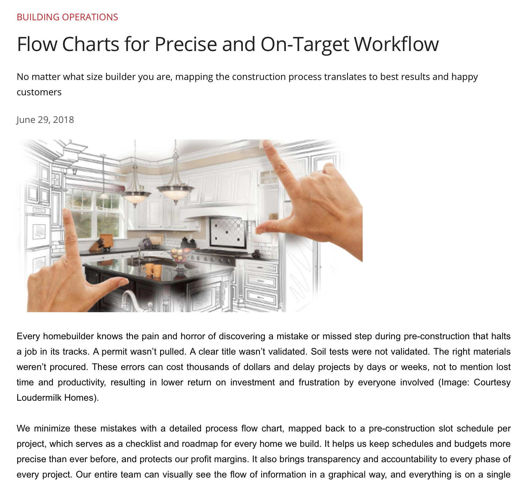 FLOW CHARTS FOR PRECISE AND ON-TARGET WORKFLOW