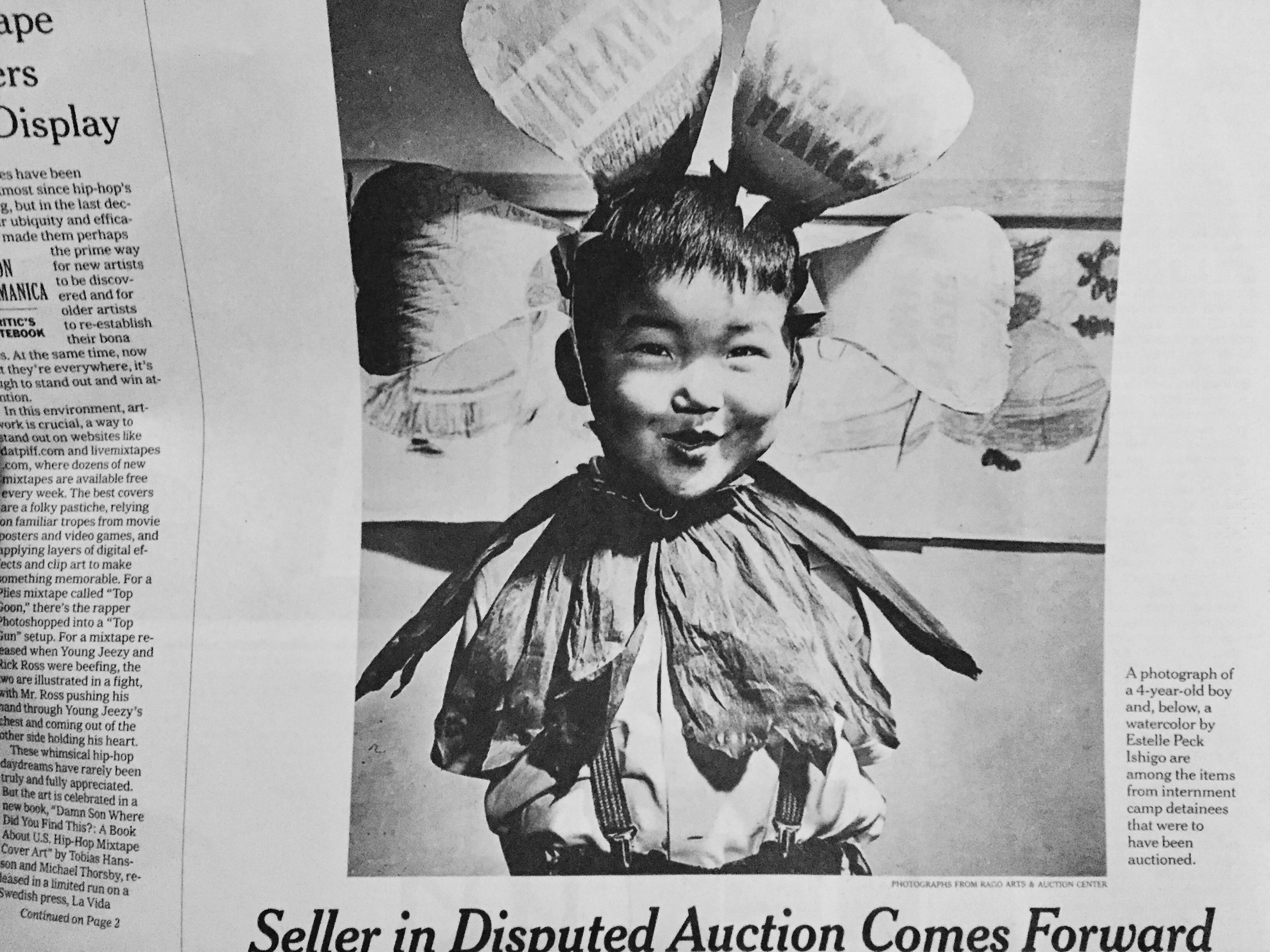 A young Bob Kaneko's photo made it in this New York Times article on the disputed  Eaton collection