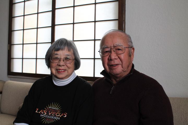 Agnes and Digger Sasaki at the Oakland Buddhist Church